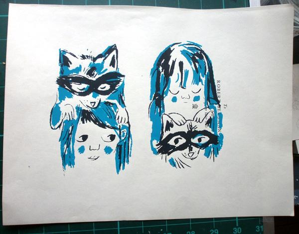 (julie delporte): Les suprêmes ratons #illustration #raccoon
