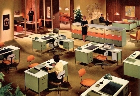 Vintage interior #interior #design #furniture #vintage #steelcase