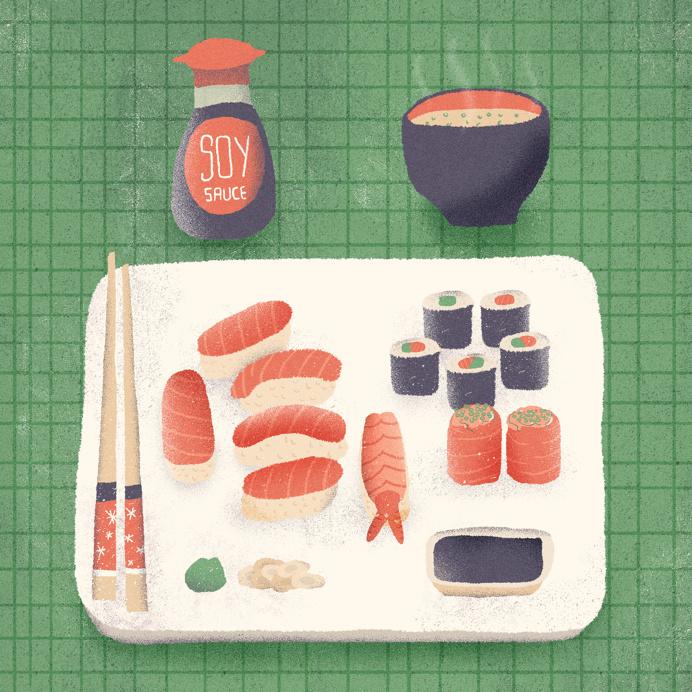 #illustration #sushi #japanesefood #art
