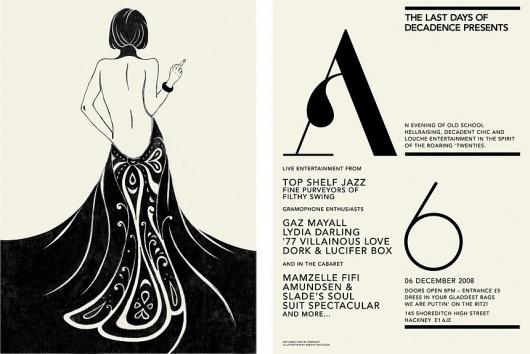 Work, Last Days of Decadence — Sawdust #sawdust #illustration #flyer #typography