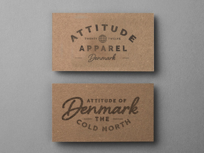 Attitude 2 #lettering #business #print #design #graphic #cards