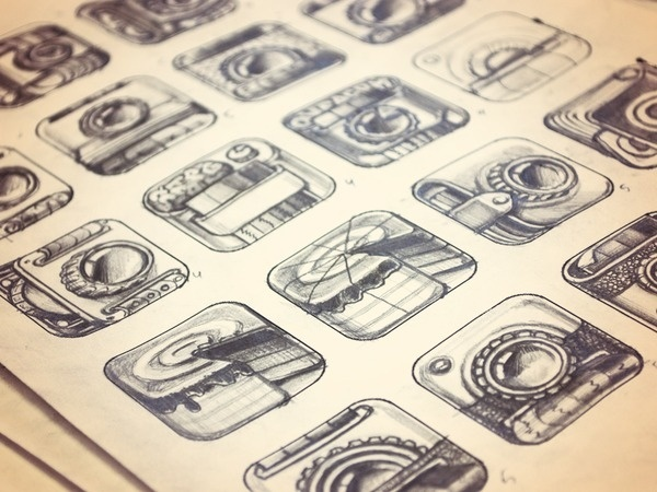 iPhone App Icon Sketches — Stage 1 #icon #ipad #appstore #icons #iphone #sketches #ios #pencil