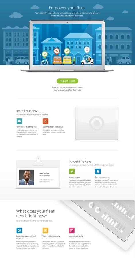 Large #flat #layout #web #clean