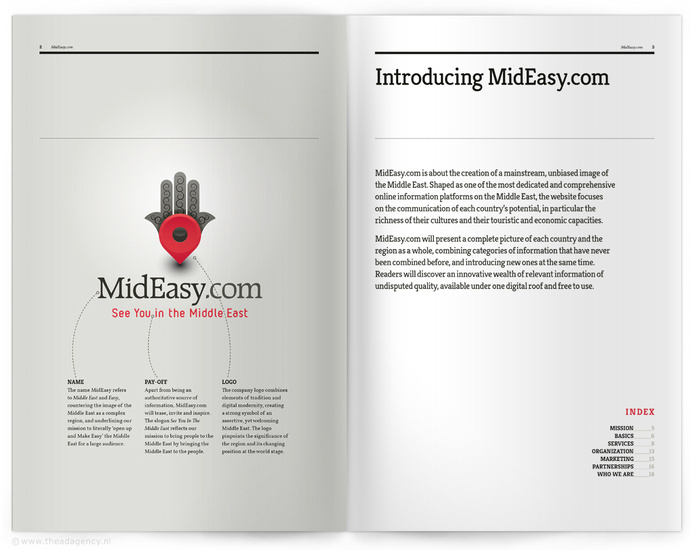 MidEasy.com | brochure #theadagency #graphicdesign #identity #brochure #typography