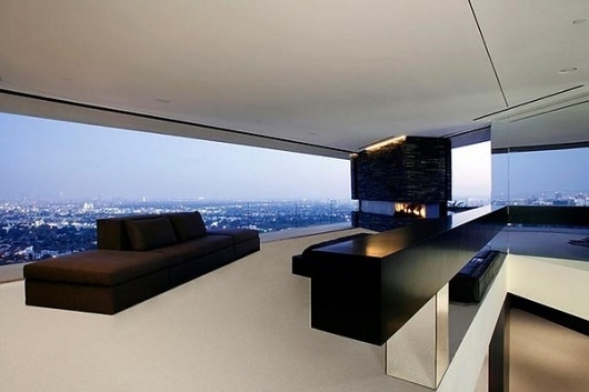 Spectacular Home with Breathtaking Panoramic Views in the Hollywood Hills #interior #hollywood