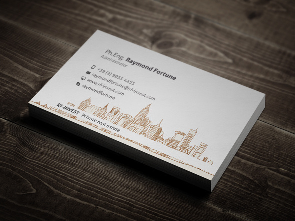 Real Estate Business Card #business #card #print #design #real #estate