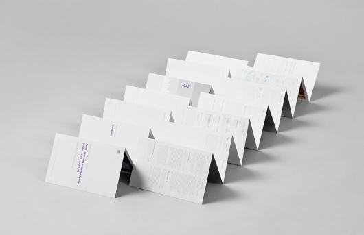 Apple – ELS London « Design Bureau – Lundgren+Lindqvist #fold #apple #white #minimal #purple #perforated #grey