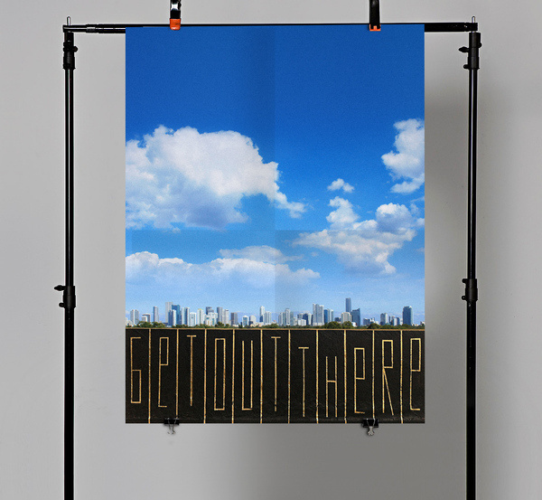 Get Out There #urban #montana #print #design #graphic #montanagold #out #paint #photography #get #art #miami #spray #love #typography