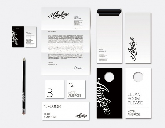 DESIGN « Kiss Miklos #hotel #logo #stationery