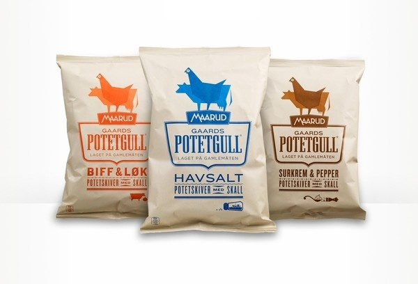 Maarud Gaards Potetgull Scandinavian Design Group #packaging #logo #identity