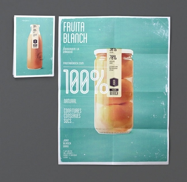 Fruita Blanch | Identity Designed #food #identity #poster #typography