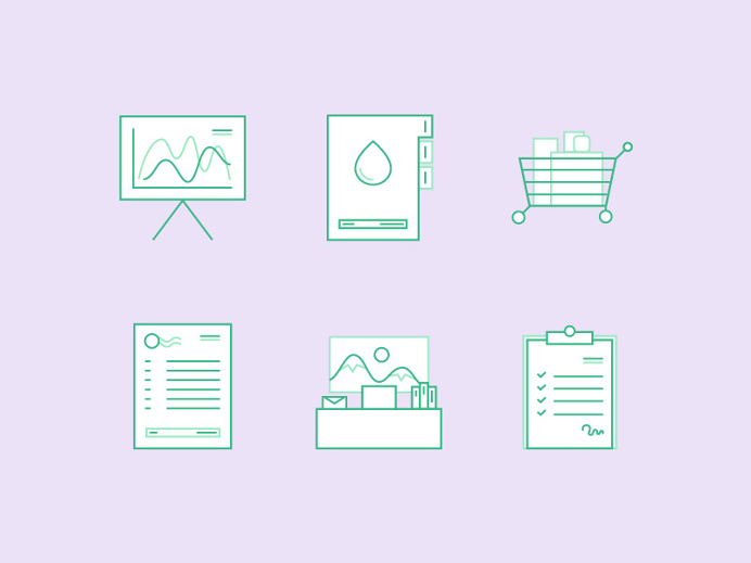 Icons for Inventory Startup by Equal Parts Studio
