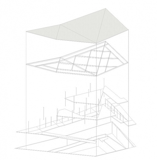 La Nouvelle #construction #folding #architecture #drawing