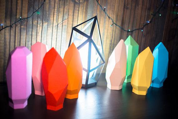 Papercraft Lamp - Like a Diamond