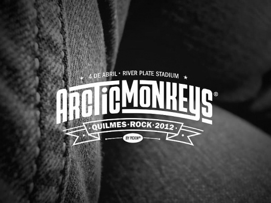 Arctic Monkeys! Quilmes rock! #banner #pickin #quilmes #arctic #music #monkeys #river