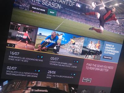 Sports brand site #web
