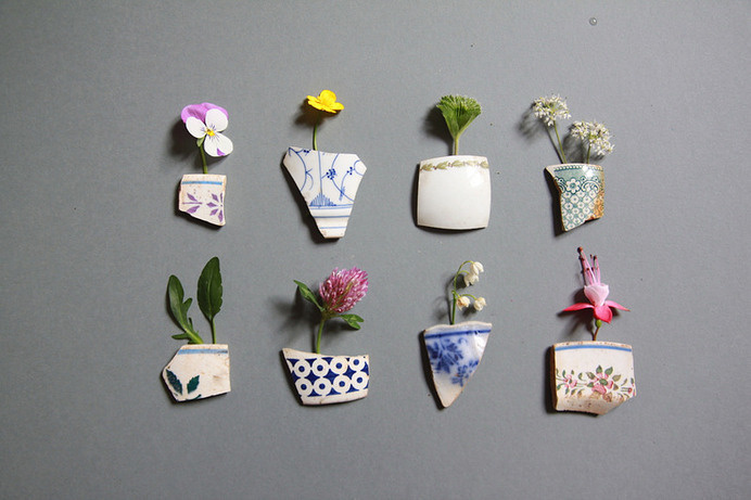 fragments | Flickr - Photo Sharing! #fragments #plants #ceramic #flowers #trifles