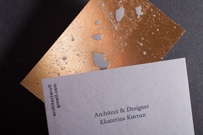 Best branding structure beautiful technique printing images on golden concrete business card architecture gold architect best modern minimal structure beton foil print printing technique reheart Images