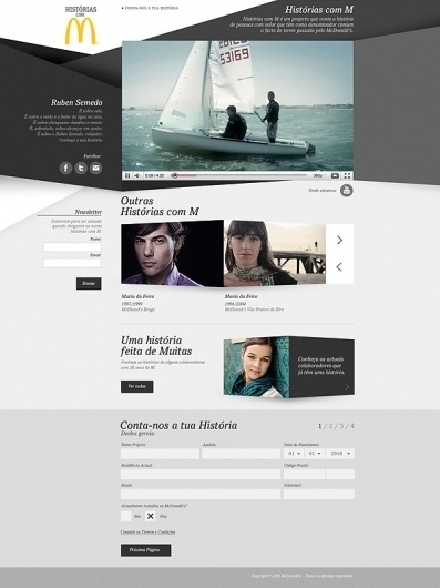 Histórias com M (2010) on the Behance Network #website #design