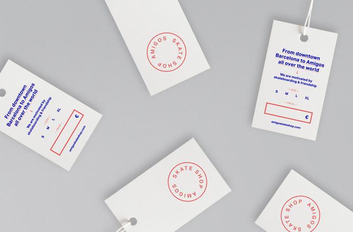 Leon Jorge - Amigos Skate Shop brand layout business cards