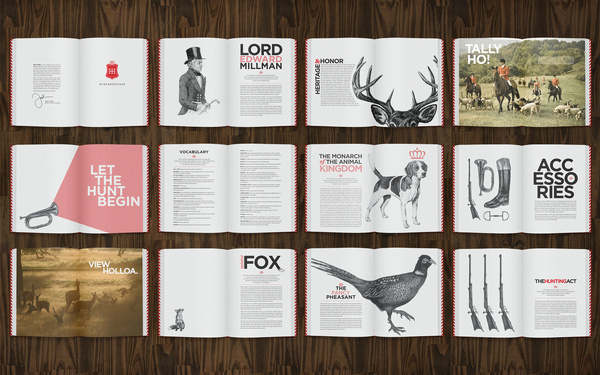 Hunt & Heritage Brochure - by Cecilia Hedin #hunt #print #book #animal #editorial #brochure
