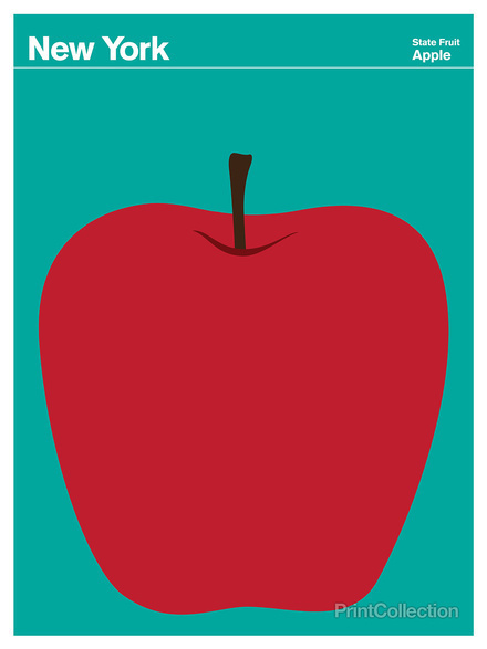 New York #apple #seafoam #red #fruit #state