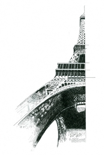 Vancouver Graphic Designer and Photographer #eiffel #drawing #pen #tower