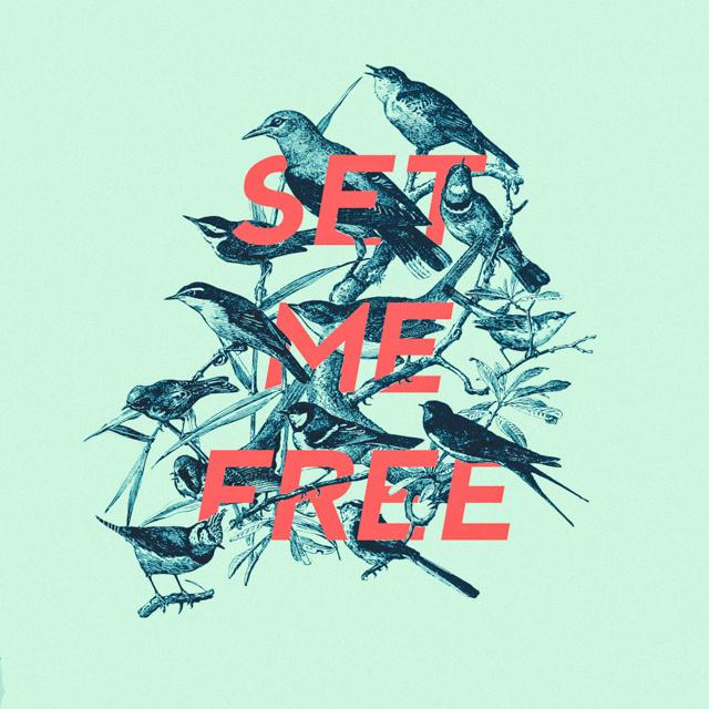 set me free by Edgar Hernandez #type #illustration #birds #typography