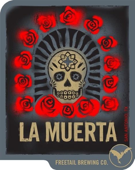 Freetail La Muerta #packaging #beer #label #bottle