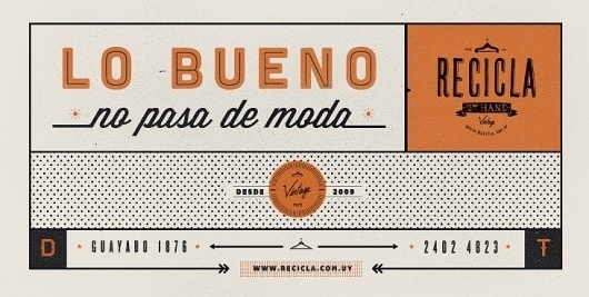 Dribbble - Lo-bueno.jpeg by Martin #mark #recycle #clothes #second #vintage #logo #hand