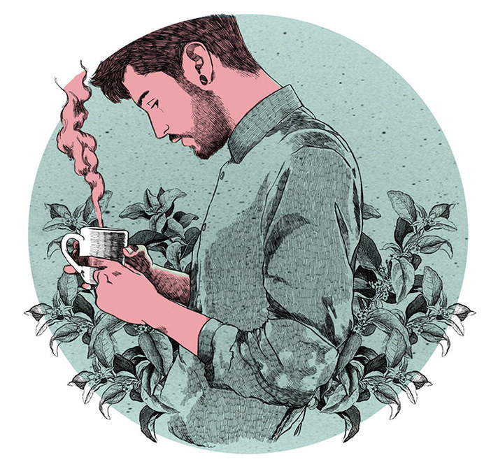 Alfonso Casas #coffee #illustration #love