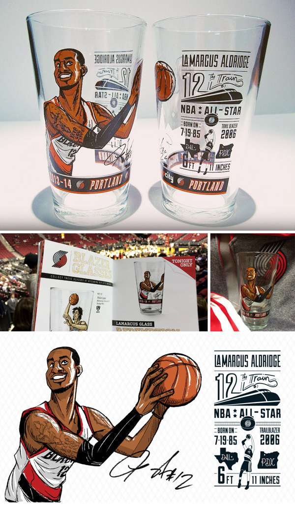 LaMarcus Aldridge Glass #portland #illustrations #glass #trailblazers #cup