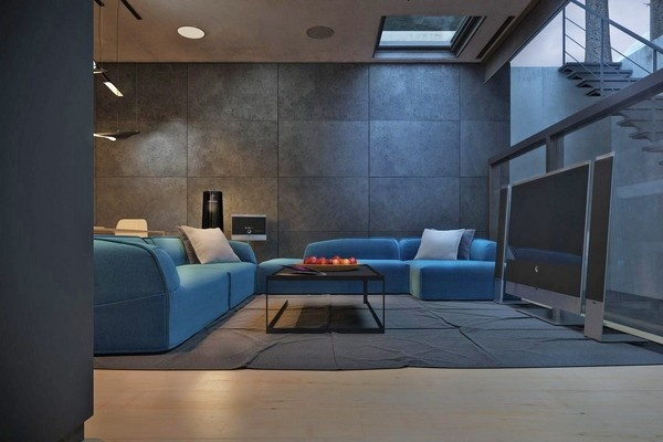 Rocky House Fortress by Kiev-based architect Igor Sirotov #interior #couch #sofa #architecture