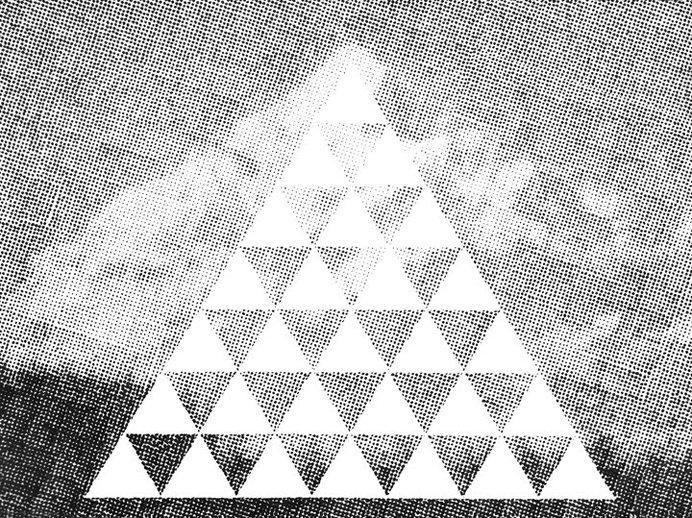 Metamountain | Dan Bina #mountain #ink #ny #bina #meta #dan #dots #paper #art #york #drawing #brooklyn #new