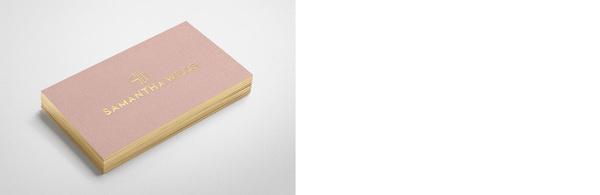 Fabio Ongarato Design Samantha Wills #wills #business #card #fabio #samantha #ongarato
