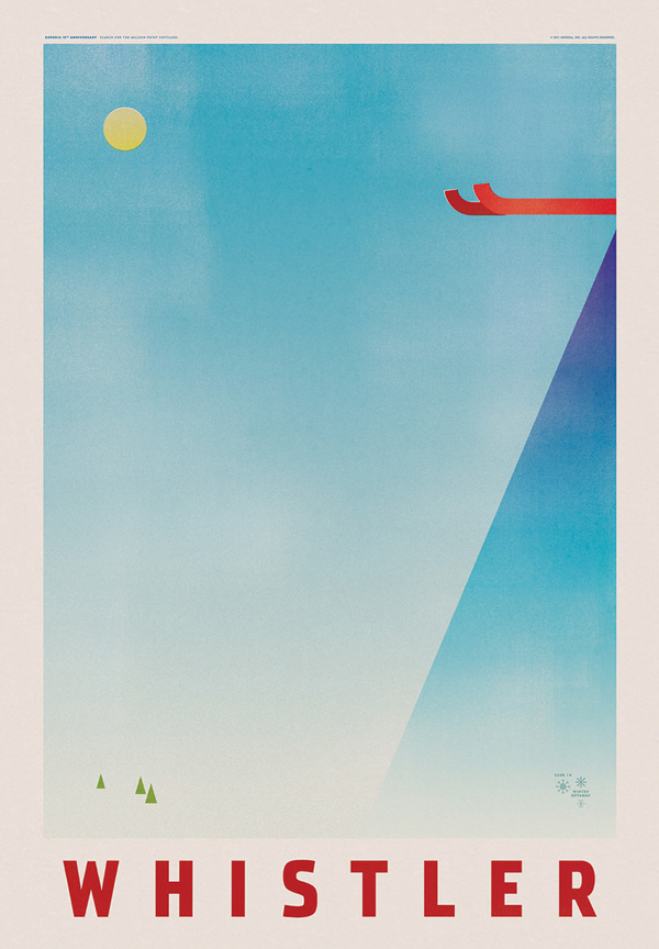 Expedia Travel Posters #design #simple #illustration #poster #blue