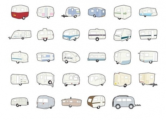 Caravans – Self Initiated Project on the Behance Network #caravans