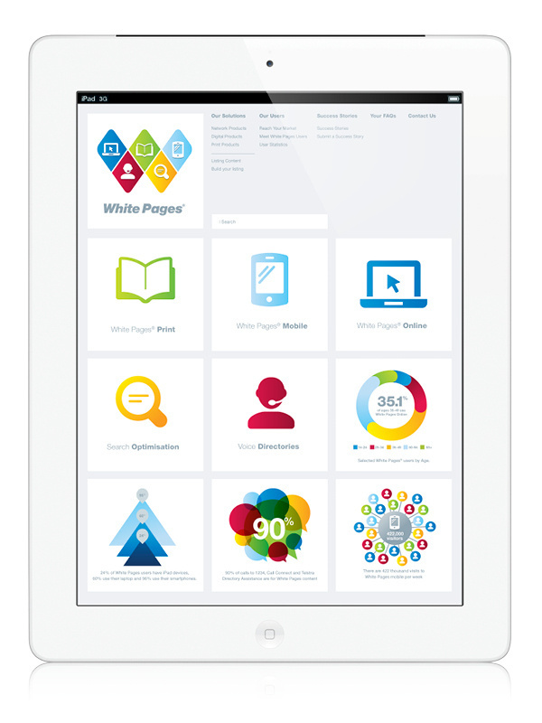 White Pages on Behance #icons