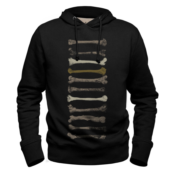 #bones #black #hoodie #sweatshirt #bobettinger #bone #evolution #darwin