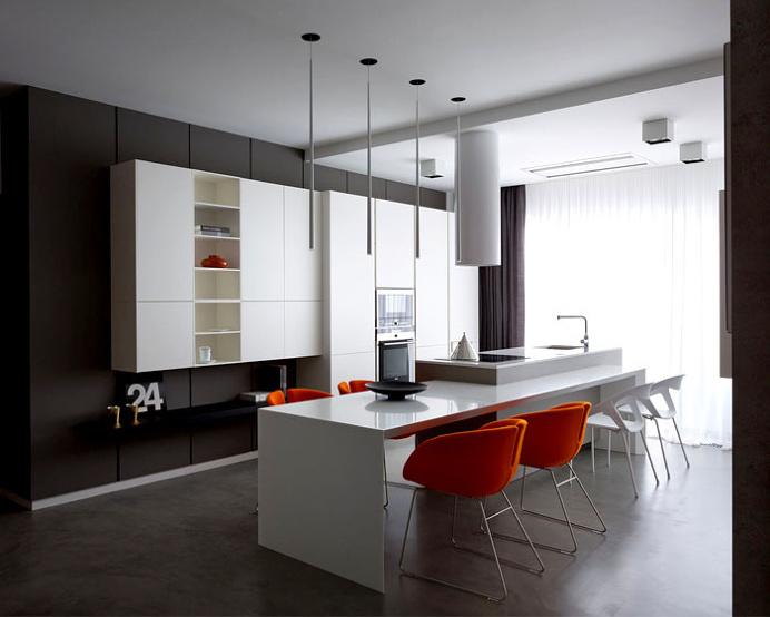 Apartment in Trendy Dark Colors - #decor, #interior, #homedecor,
