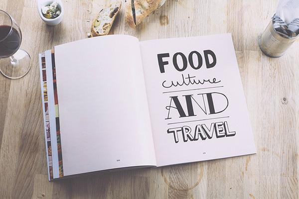 pazmartinezcapuz_bread magazine #font #magazine #handwriting #letterings #food #spread #pazmartinezcapuz #typo #bread