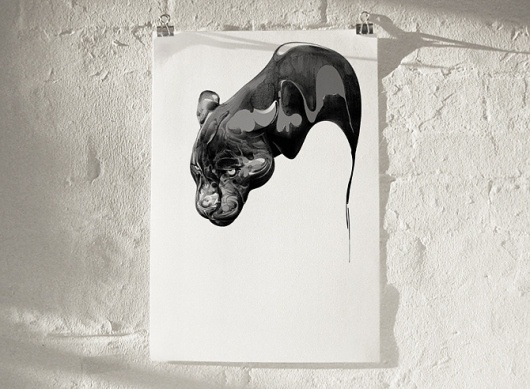 All sizes | COLLECTION 01 — New — Only available for a limited time | Flickr - Photo Sharing! #london #black #illustration #liquid #hellovon #panther #hello #von #england
