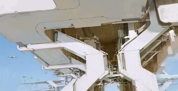 tumblr_m79uqaCACD1qfv8ako1_1280.jpg (1200×619) #concrete #white #structure #metal #future
