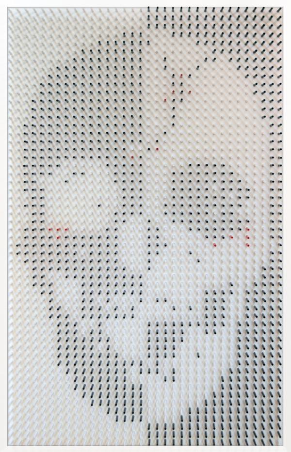 Matt Bilfield wooden dowels art | PICDIT