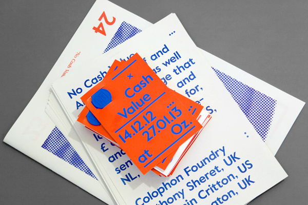 Colophon: No Cash Value — Collate
