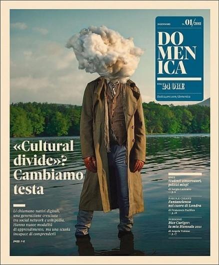 Head in a Cloud - Coverjunkie.com #cover #print #domenica #magazine
