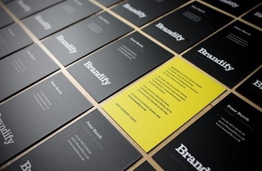Brandify Business Cards | Ismael Burciaga #moo #business #branding #black #brandify #cards