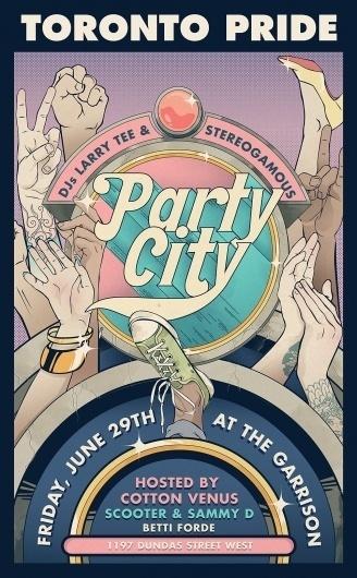 Party City - JORY×DAYNE #type #illustration #design #poster