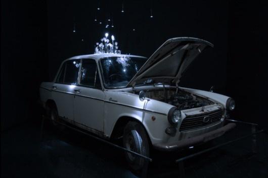 Mika Aoki's Singing Glass   Spoon & Tamago #installation #design #aokis #glass #art #singing #mika