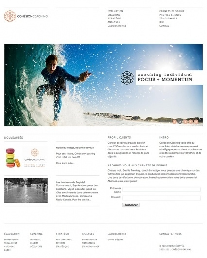 Cohesion Coaching on the Behance Network #design #clean #website #grid #web